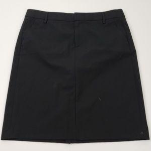 Gap Skirt size 6 Black Pencil Stretch Career